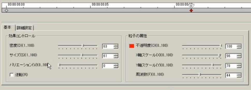 中央のキーフレーム 基本