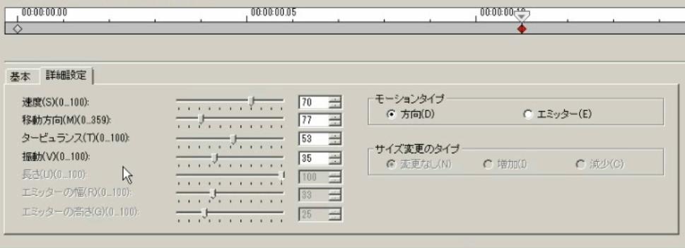 中央のキーフレーム 詳細