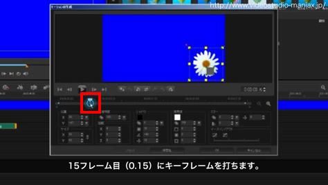 VideoStudioで花が咲く効果 (7)
